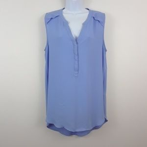H&M 14 BLUE SLEEVELESS POPOVER TUNIC TOP